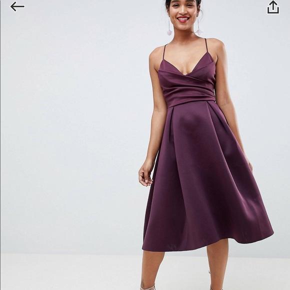 340d4841ff18b Asos design scuba cami prom midi dress